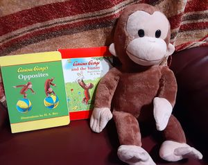 !!!Just REDUCED!!! Curious George and 2 Books in Excellent Condition!!! for Sale in San Antonio, TX