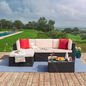 Five Piece Outdoor Patio Set Sectional with Table for Sale in Richmond, CA