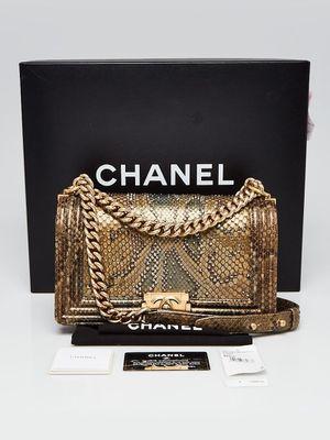 CHANEL Gold Python and Crystal Embellished Medium Boy Bag for Sale in San Francisco, CA