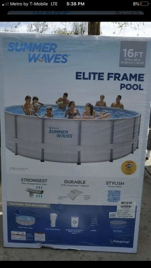 Brand new in box 16 ft summer waves pool!! for Sale in Keller, TX