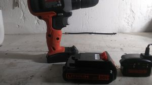 Black and decker drill 20v lithium for Sale in Wichita, KS