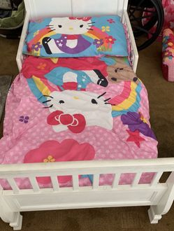 Hello Kitty Toddlers Girl Bed With Mattress... for Sale in Manhattan Beach,  CA