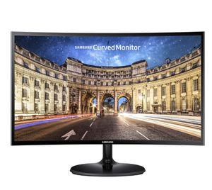 "Samsung - 24"" LED Curved FHD FreeSync Monitor - High glossy black for Sale in Fontana, CA"