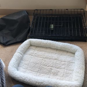 Midwest Dog Crate With Bed And Cover for Sale in Arlington, VA