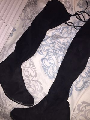 Knee high black boots for Sale in Cleveland, OH