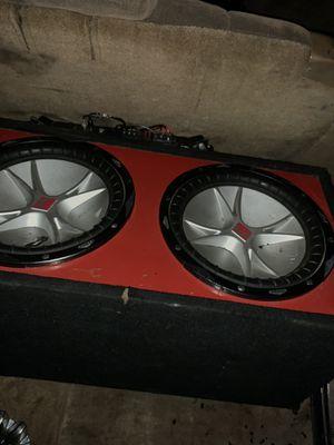 2 12s Kicker Speakers with Amplifier for Sale in Dallas, TX