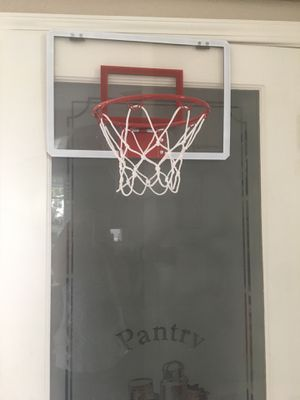 BASKETBALL HOOP W/BALL!! CLEAR BACK, METAL HOOP, STRONG NET! 18x12 INCHES FOR OVER THE DOOR!! for Sale in Modesto, CA