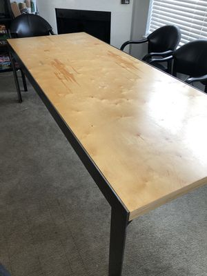 Large industrial dining table for Sale in Aloha, OR