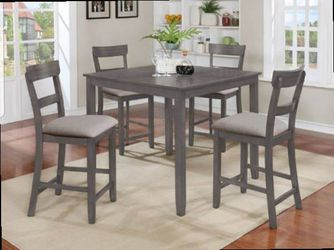 CLOSEOUTS LIQUIDATIONS SALE BRAND NEW COUNTER HEIGHT 5PC DINING TABLE SET INCLUDES TABLE AND 4 CHAIRS ALL NEW FURNITURE CM2754 for Sale in Pomona,  CA
