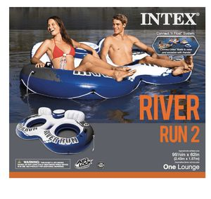 Intex River Run II 2-Person Water Tube Float w/ Cooler and Connectors for Sale in Laveen Village, AZ