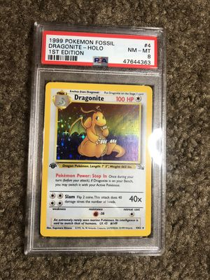 Pokemon Fossil 1st edition Holo Dragonite PSA 8 for Sale in San Diego, CA
