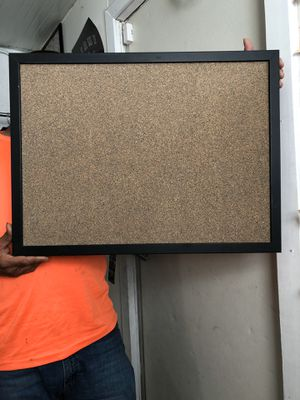 "Foray Cork Bulletin Board 18"" L x 24"" W Tan Cork with Black Frame for Sale in Lake Worth, FL"