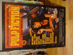 Pulp fiction wooden print framed 24 x 36 for Sale in Baltimore, MD