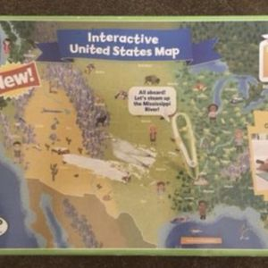 $20 OBO - LEAP FROG INTERACTIVE US MAP (2 sided BOARD, board is still NEW IN PLASTIC) - NEW BOX, SURFACE of box JUST SLIGHTLY TORN, SEE PIC. for Sale in Glendale, AZ