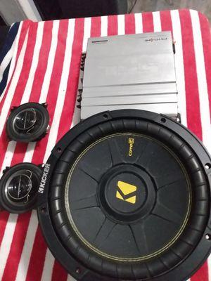 10 inch sub door speakers 1000 watt amp 80$ for Sale in Sacramento, CA