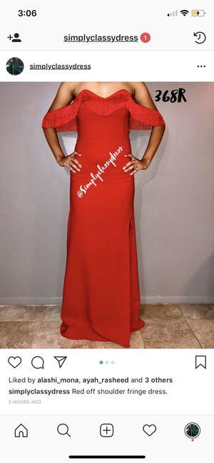 Red off shoulder fringe dress for Sale in North Olmsted, OH