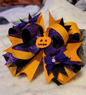 Hand made halloween boutique style bow for Sale in Spartanburg, SC