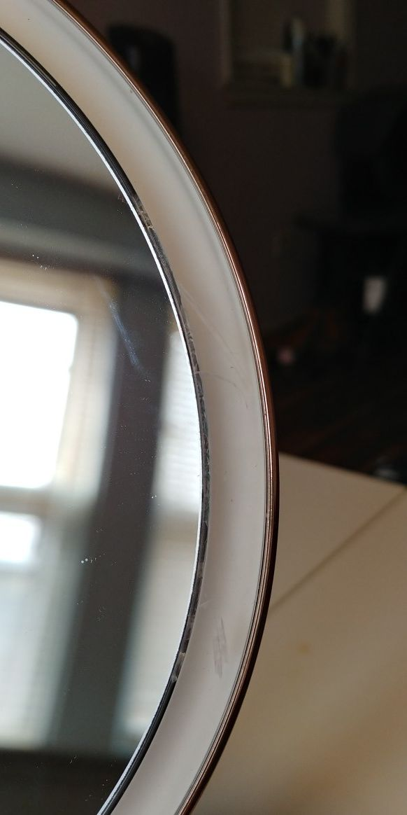 """simplehuman Sensor Lighted Makeup Vanity Mirror, 8"""" Round With Touch-Control Brightness, 5x Magnification, Rose Gold Stainless Steel"""