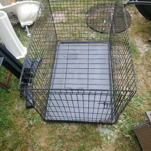 Large Dog Cage All Folds Up To Save Space And Be Put Away for Sale in Humble, TX