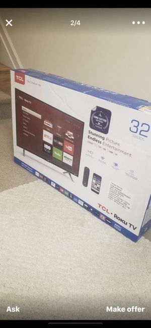 Brand New Open Box 32inch TCL Roku Smart TV for Sale in Ashburn, VA