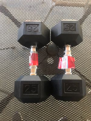 Dumbbells pair 2-25 lbs, New for Sale in Miami, FL