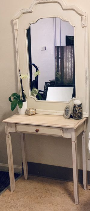 Desk/Console/vanity with mirror for Sale in Portland, OR