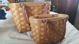 Longaberger Handmade Basket Set for Sale in Calimesa, CA