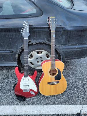Electric and Acoustic guitar for Sale in Geneva, OH