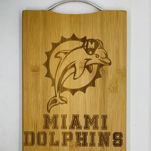Miami dolphin laser engraved bamboo high quality cuttingboard valentines gift for Sale in Los Angeles, CA