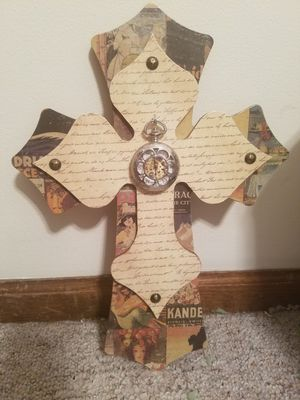 Two layer cross with pocket watch for Sale in Weston, MO