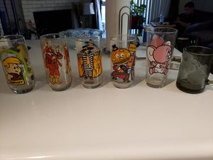 Collectables- vintage character drinking glasses for Sale in Denver, CO