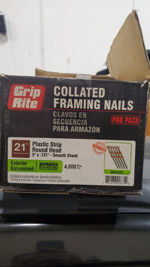 Pneumatic framing nails 80% full for Sale in Washougal, WA