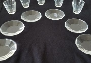 Vintage Glass Communion Plates & Cups for Sale in Wilmington,  DE