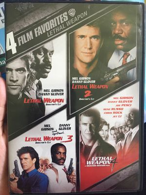 All 4 full length movies of lethal weapon for Sale in Richmond, VA