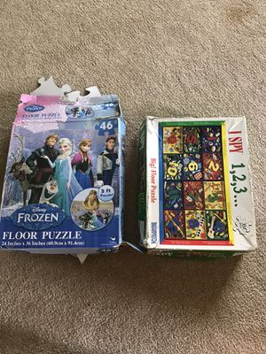 FROZEN I SPY JIGSAW KIDS PUZZLES BOARD GAMES for Sale in Franklin Center, PA