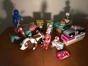 Vintage Tin Toy Collection Friction Wind Up Clockwork for Sale in Portland, OR