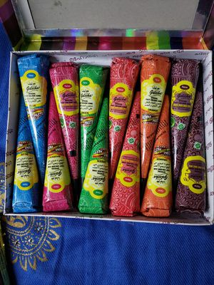 12 Multicolored Henna Cones for Sale in Parsippany, NJ