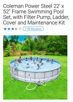 Coleman 22' Steel Pool for Sale in Elizabeth, NJ