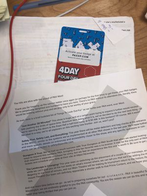 PAX 4 Day Pass $220 for Sale in Seattle, WA