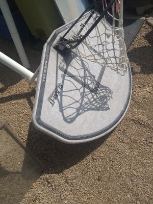 Lifetime graphite ground basketball hoop and backboard See pics 35.00 for Sale in Glendale, AZ