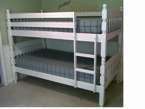 (Brand New In Boxes) Twin/Twin White Bunk Bed With Mattresses for Sale in Atlanta, GA