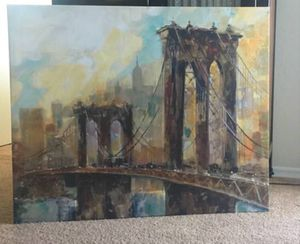 Ruane Manning 'Brooklyn Bridge' Giclee Print for Sale in Silver Spring, MD