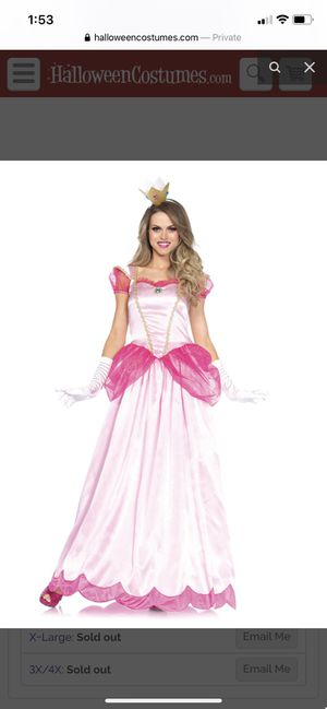 Plus size princess peach costume for Sale in Imperial, PA