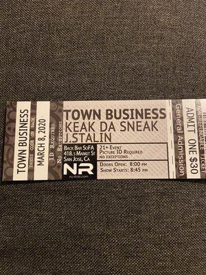 Keak Da Sneak and J Stalin Concert Tickets for Sale in Concord, CA