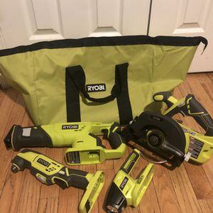 Circular saw Reciprocating saw Mutil-tool and LED worklight for Sale in Washington, DC