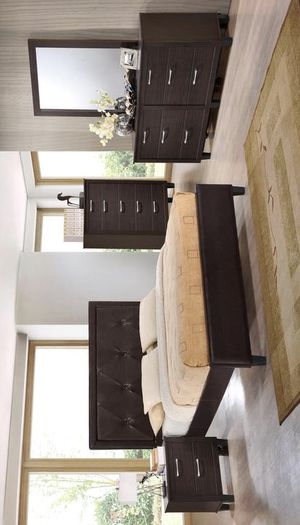 [SPECIAL] Brianna Walnut Panel Bedroom Set (Queen and King Bedroom Set) for Sale in Austin, TX
