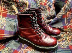 DR MARTENS!!! Red Vegan Leather Jadon Platforms US 9 Men US 10 Women for Sale in North Miami, FL