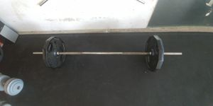 150 lb solid steel weight bar for Sale in Fresno, CA