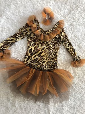 Girls Halloween costume dress sz 5/6 Cheetah EXCELLENT 3pc set for Sale in San Diego, CA