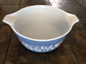 Vintage blue and white Pyrex bowl 2.5 for Sale in Cape Coral, FL